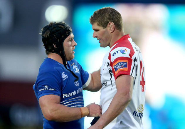 Sean O'Brien and Johann Muller after the game