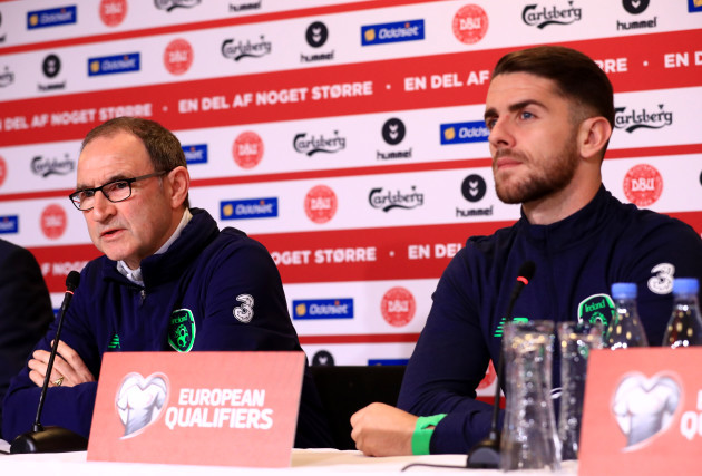 Republic of Ireland Training Session and Press Conference - Parken Stadium