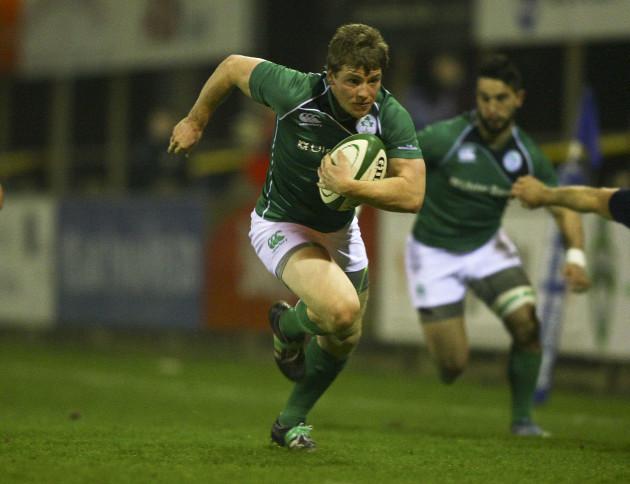 Neil Cronin leads a break