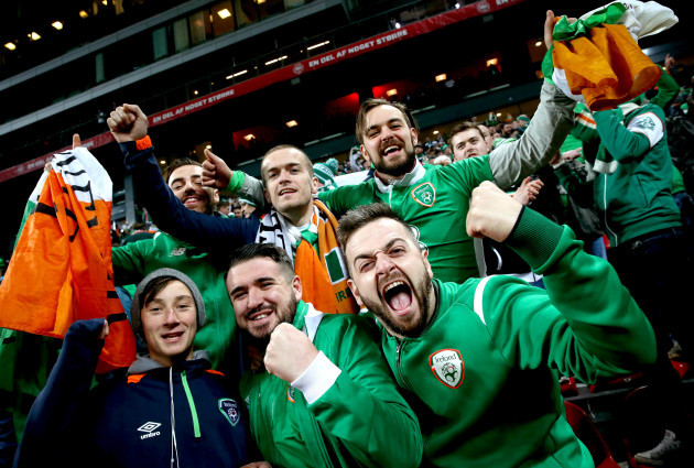 Ireland fans after the game