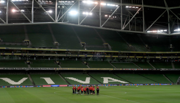 Denmark Training Session - Aviva Stadium