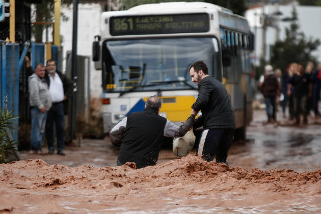 Storms Batter Greece