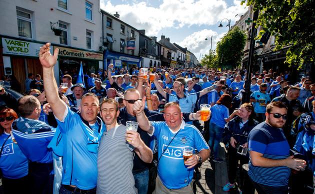 Dublin fans in Portlaoise Town
