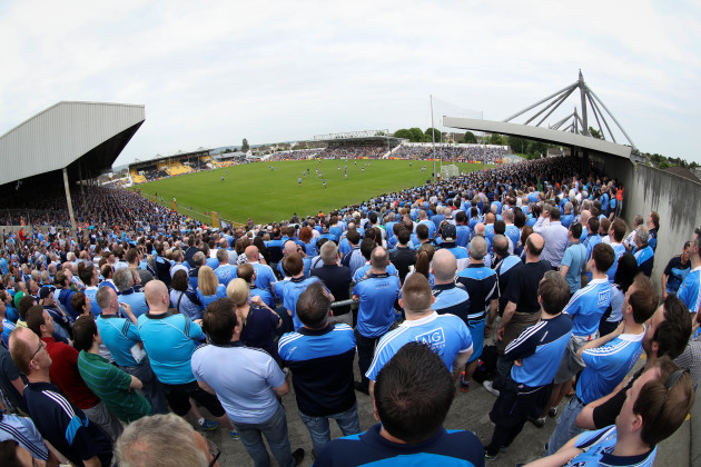 Dublin fans during the game