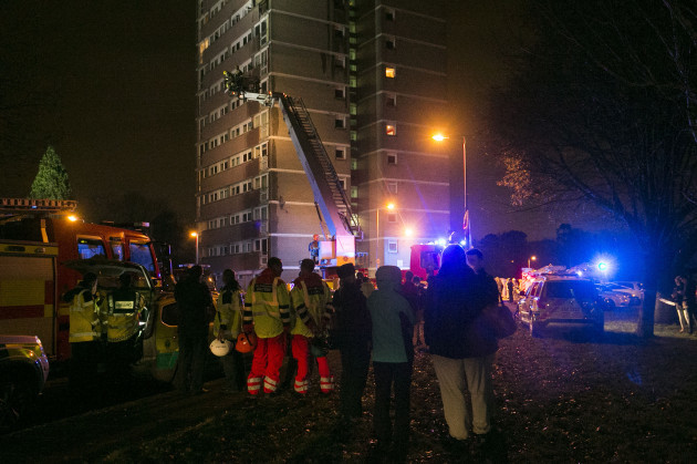 Northern Ireland high rise tower fire