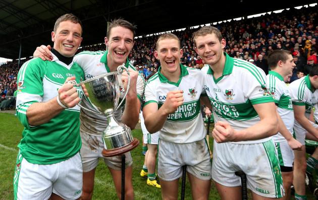 Anthony Nash, Aidan Walsh John McLoughlin and Lorcan McLoughlin celebrate