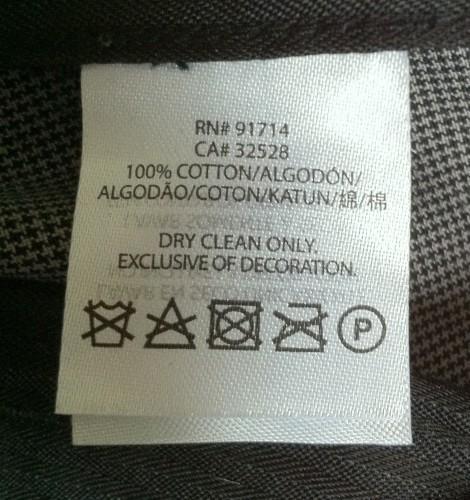 Trouser-Label