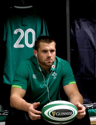 CJ Stander in the dressing room ahead of the game