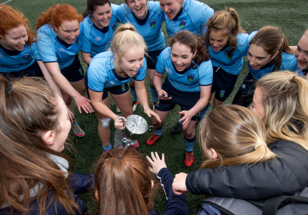 UCD celebrate with the trophy