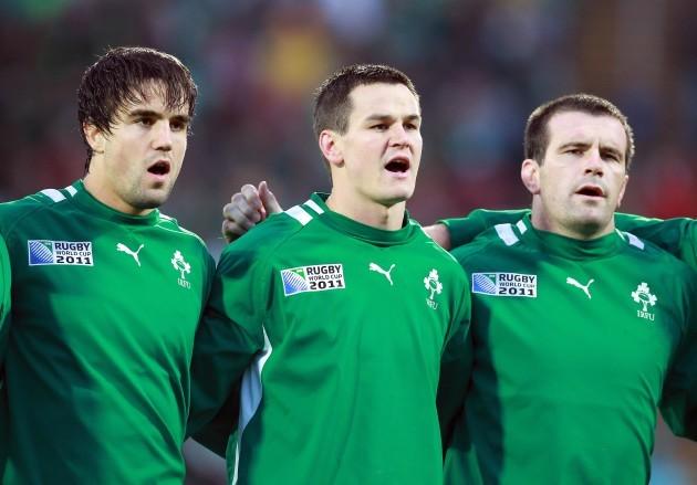 Conor Murray, Jonathan Sexton and Shane Jennings