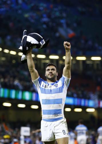 Martin Landajo celebrates winning