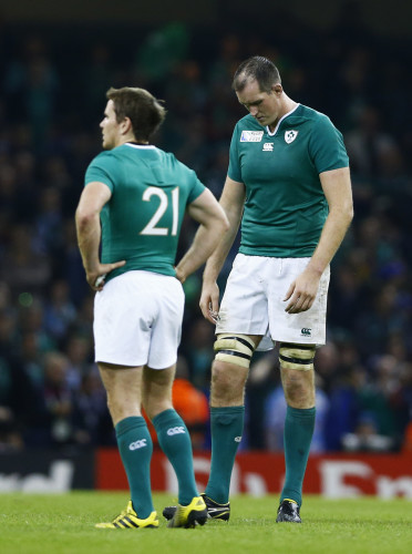 Devin Toner and Eoin Reddan dejected after the game