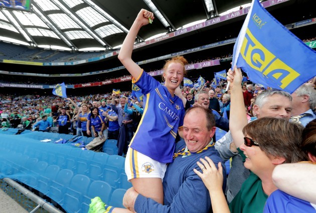 Aisling Moloney celebrates winning