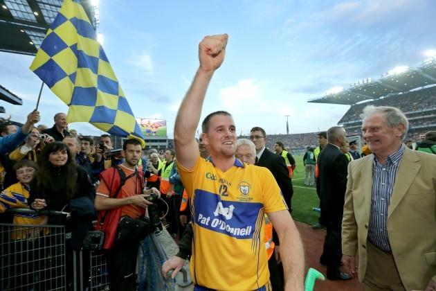 Colin Ryan celebrates