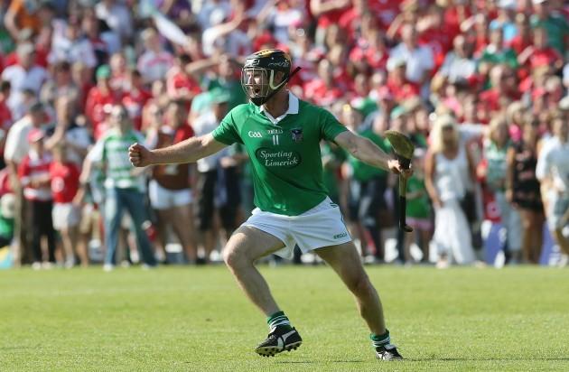 Limerick's James Ryan celebrates at the final whistle