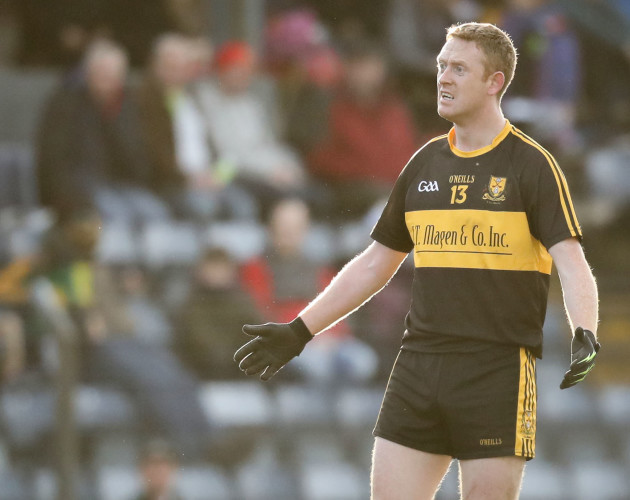 Colm Cooper reacts to a decision made by referee Sean Lonergan