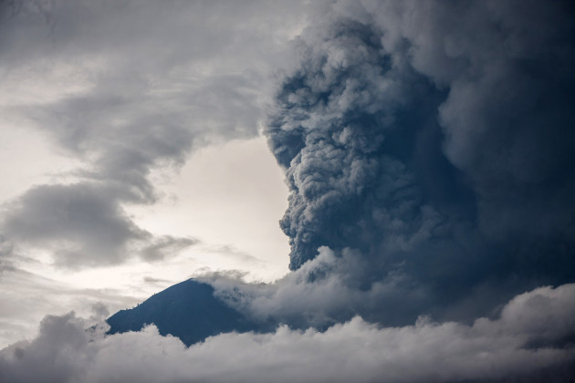 INDONESIA-BALI-MOUNT AGUNG-ERUPTION