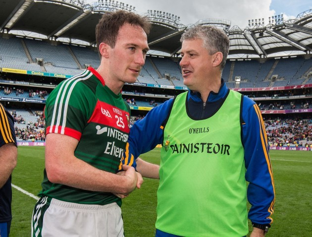Kevin McStay with Mayo's Alan Dillon
