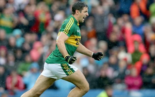 Aidan O'Mahony celebrates at the final whistle