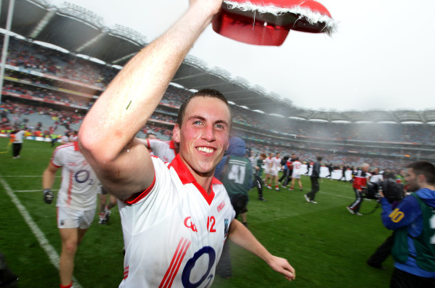 Patrick Kelly and the Cork players celebrate