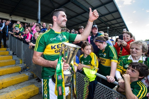 Bryan Sheehan with the cup