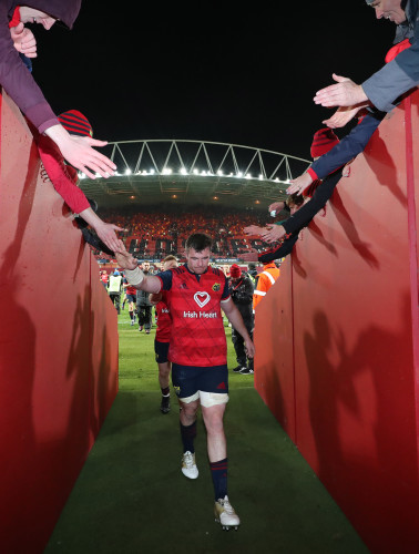 Munster's Peter O'Mahony after the match