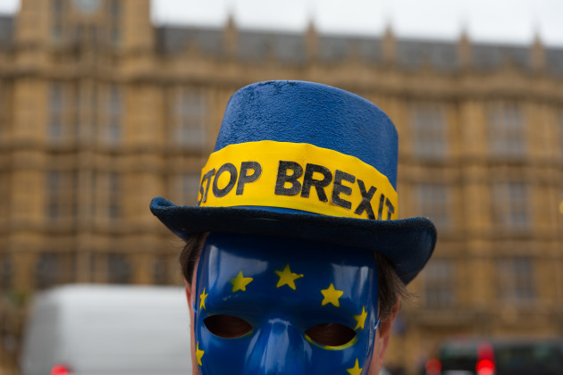 United Kingdom: Anti Brexit Demonstration at Westminster