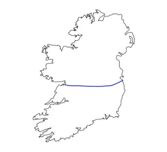 Map Of Ireland With County Borders.What Happened When British People Were Asked To Draw The Irish Border
