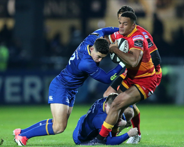 Ashton Hewitt tackled by Noel Reid