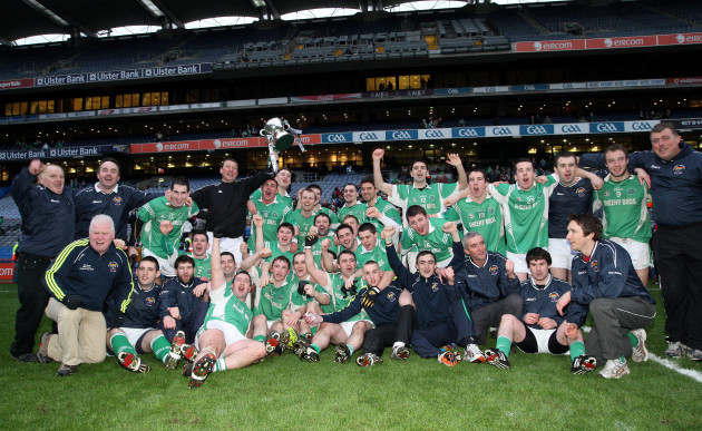 The Milltown-Casltemaine team celebrate with the trophy