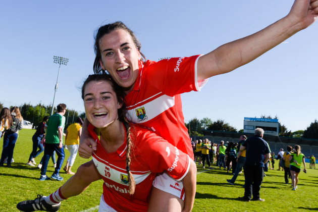 Brid O'Sullivan and Eimear Meaney celebrate