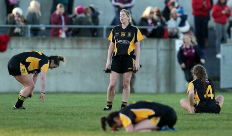 Sile O'Callaghan dejected at the final whistle