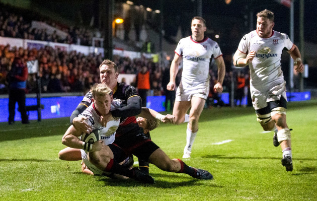 Craig Gilroy scores his sides fourth try