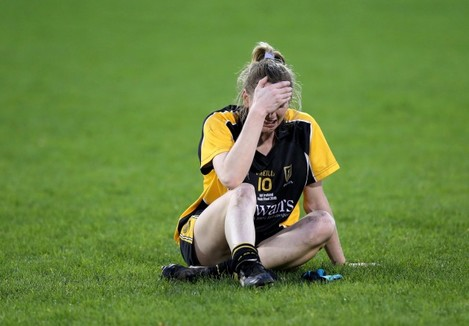 Sile O'Callaghan dejected