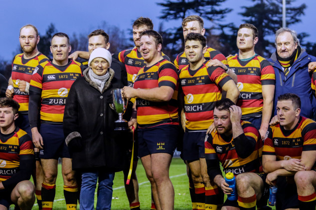 Ian Prendiville and his teammates with the Sutherland Cup