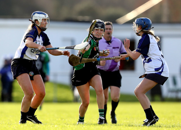 Jessica Fitzell and Caoimhe O'Leary with Laura O'Neill