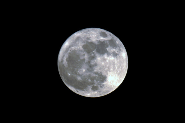 Supermoon visible over Rafah City