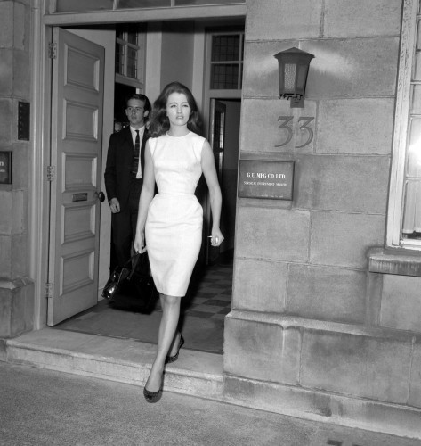 News - Profumo Affair - Christine Keeler's security meeting with Lord Denning - London