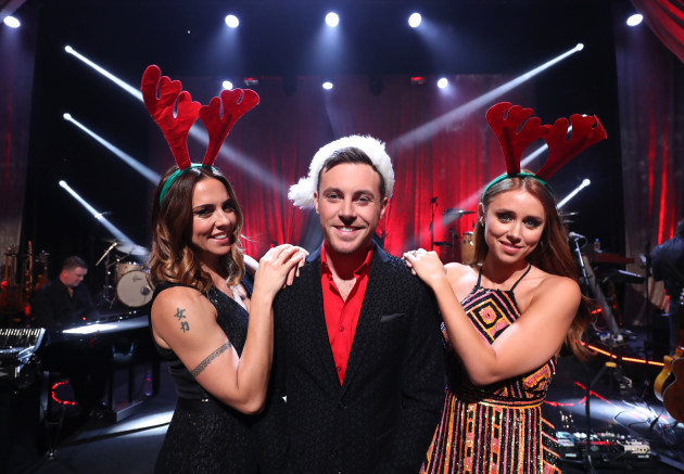 Nathan Carter with Mel C and Una Healy