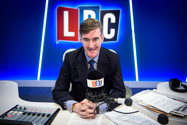 Jacob Rees-Mogg presenting on LBC