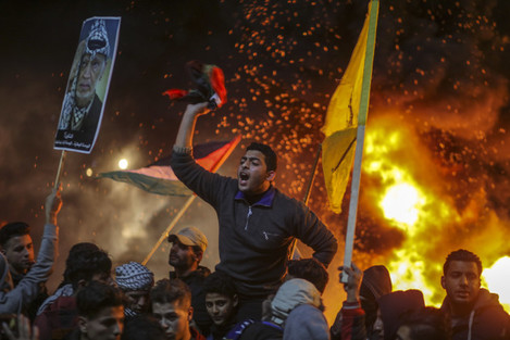 Anti-US protests in Gaza
