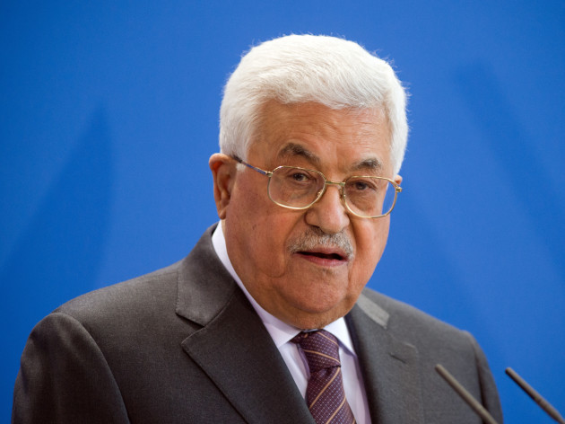 President of Palestine Mahmoud Abbas in Germany