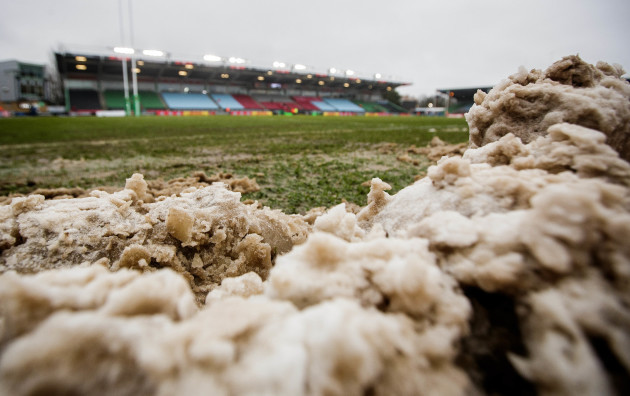 A view of the conditions ahead of the game