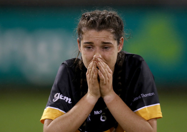 Eimear Meaney dejected after the game