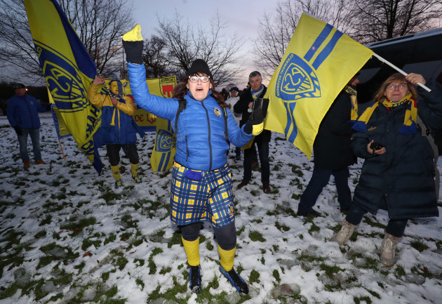 Clermont Auvergne fans before the match