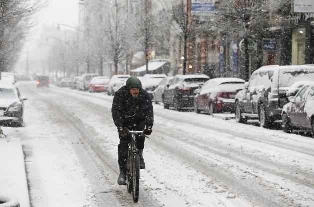 BELGIUM-BRUSSELS-WEATHER-SNOW