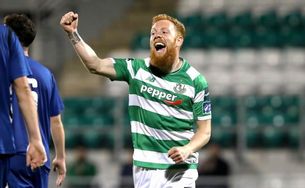 Ryan Connolly celebrates scoring their third goal of the game