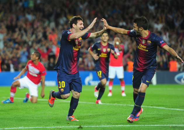 Soccer - UEFA Champions League - Group G - Barcelona v Spartak Moscow - Camp Nou Stadium