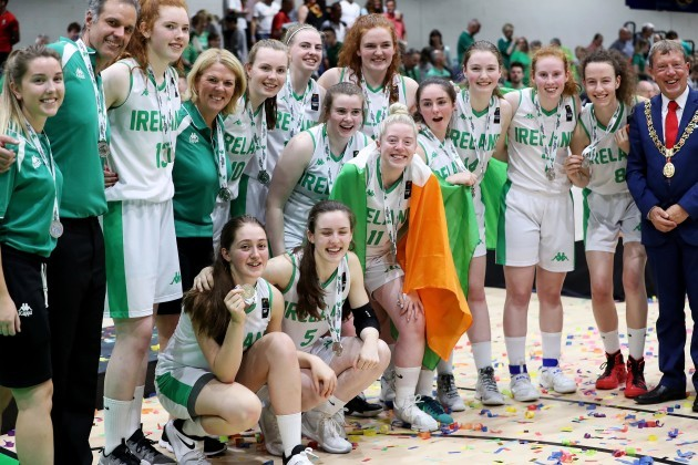 Ireland celebrate after the game