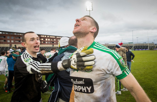 Ronan Sweeney celebrates after the game 17/12/2017